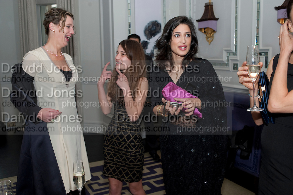 ROBIN SHEPPARD; TIGER LILY;; FATIMA BHUTTO, Henry Porter hosts a launch for Songs of Blood and Sword by Fatima Bhutto. The Artesian at the Langham London. Portland Place. 15 April 2010.  *** Local Caption *** -DO NOT ARCHIVE-© Copyright Photograph by Dafydd Jones. 248 Clapham Rd. London SW9 0PZ. Tel 0207 820 0771. www.dafjones.com.<br /> ROBIN SHEPPARD; TIGER LILY;; FATIMA BHUTTO, Henry Porter hosts a launch for Songs of Blood and Sword by Fatima Bhutto. The Artesian at the Langham London. Portland Place. 15 April 2010.