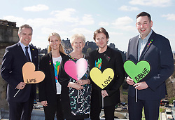 Left to right: Richard Cook (general manager, Balmoral Hotel, Sam Wells (chief operating officer, Heart Research Scotland), Barbara Harpham (CEO, Heart Research Scotland), Scottish fashion designer Christopher Kane, and Miles Briggs (Scottish shadow Health Secretary) at the launch the Heart of Scotland appeal at the Balmoral Hotel, Edinburgh. pic copyright Terry Murden @edinburghelitemedia
