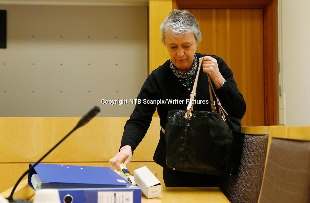 OSLO  20140430.<br /> Advokat Berit Reiss-Andersen er forvarer for en av mennene som er p&Acirc;grepet for ranet av Sheikh Enterprises p&Acirc; Gr&macr;nland i Oslo. Mannen ble fremstil for varetektsfengsling i Oslo Tingrett Onsdag.<br /> Foto: Cornelius Poppe / NTB scanpix<br /> <br /> NTB Scanpix/Writer Pictures<br /> <br /> WORLD RIGHTS, DIRECT SALES ONLY, NO AGENCY