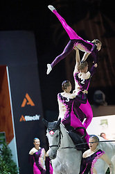 Team SUI, Will Be Good, Monika Winkler  - Squad Final Vaulting - Alltech FEI World Equestrian Games™ 2014 - Normandy, France.<br /> © Hippo Foto Team - Jon Stroud<br /> 05/09/2014
