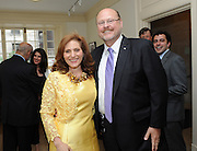 Hunter College President Jennifer J. Raab with Joe Lhota at the Hunter College Summer Garden Party, Tuesday, July, 8, 2014, at Roosevelt House in New York.  (Photo by Diane Bondareff/Invision for Hunter College)