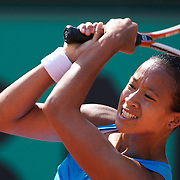 Anne Keothavong of Great Britain losing to Dinara Safin  of Russia  6-0 6-0 in the first round of the French Open Tennis Tournament at Roland Garros, Paris, France on Monday, May 25, 2009. Photo  Tim Clayton.