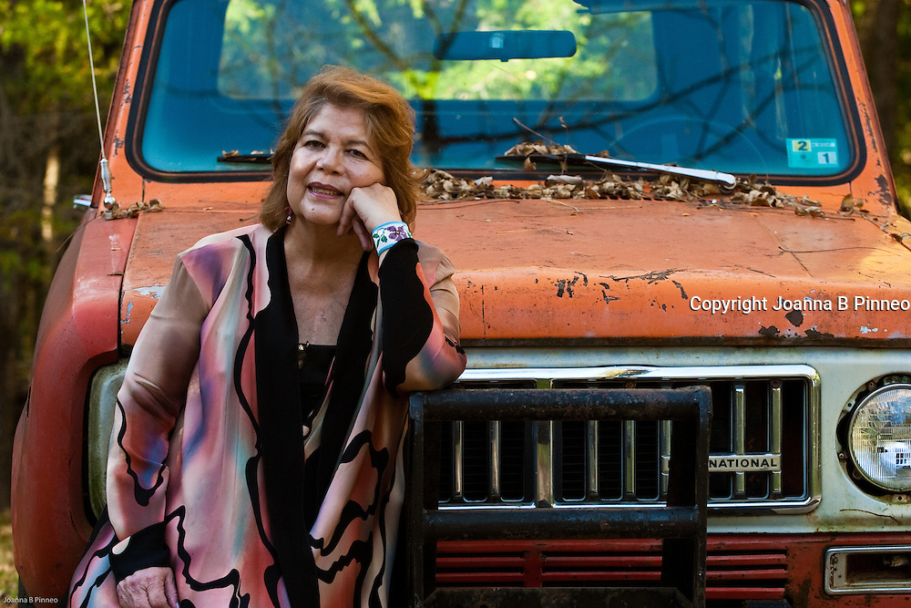 Wilma Mankiller, former Chief of the Cherokee at her home in Oklahoma.