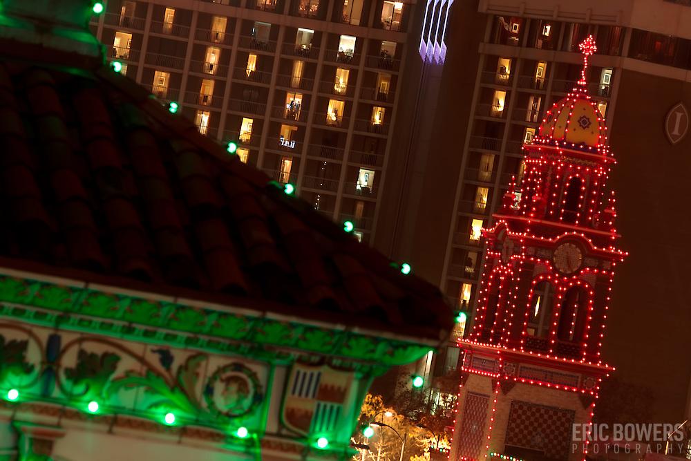 Kansas City's Plaza Lights at nightfall