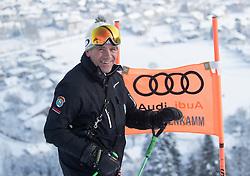 17.01.2017, Hahnenkamm, Kitzbühel, AUT, FIS Weltcup Ski Alpin, Kitzbuehel, Abfahrt, Herren, Streckenbesichtigung, im Bild Rennleiter Axel Naglich // Race director Axel Naglich during the course inspection for the men's downhill of FIS Ski Alpine World Cup at the Hahnenkamm in Kitzbühel, Austria on 2017/01/17. EXPA Pictures © 2017, PhotoCredit: EXPA/ Johann Groder