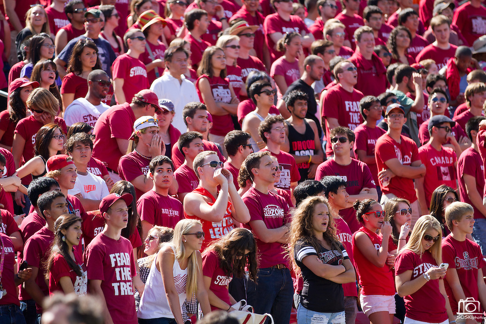 Stanford University Cardinals fans cheer during the 57-3 win over San Jose State in Palo Alto, Calif., Sept. 3, 2011.  (Spartan Daily/Stan Olszewski)