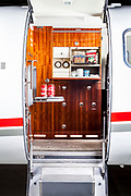 Galley of a Lear Jet 45, photographed at Atlanta's Dekalb Peachtree Airport (PDK).