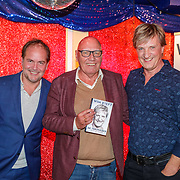 NLD/Amsterdam/20181030 - Boekpresentatie Wim Kieft - De Terugkeer, Wim Kieft, schrijver Michel van den Berg en Kees Jansma