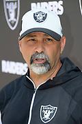 Jun 12, 2019; Alameda, CA,  USA; Oakland Raiders special teams coordinator Rich Bisaccia during minicamp press conference at the Raiders practice facility at the Raiders practice facility.