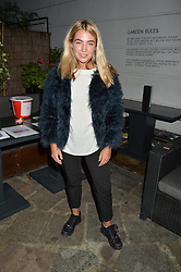 JESS WOODLEY at a reception hosted by Tiffany Watson in aid of The Eve Appeal held at The Phene, 9 Phene Street, London on 8th September 2015.