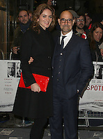 Felicity Blunt & Stanley Tucci, Spotlight - UK Film Premiere, Curzon Mayfair, London UK, 20 January 2016, Photo by Brett D. Cove
