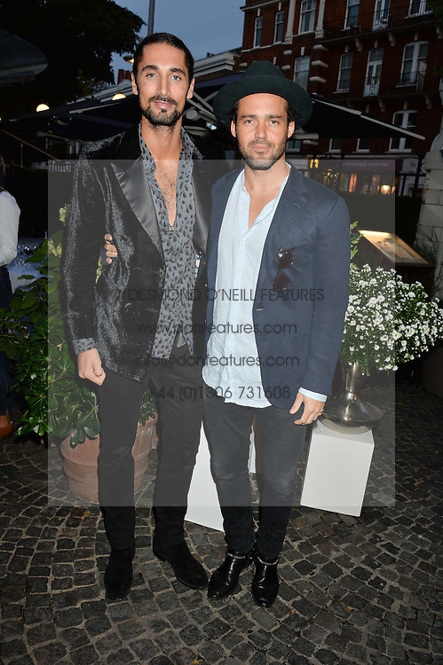 Left to right, HUGO TAYLOR and SPENCER MATTHEWS at the Bluebird's End of Summer Party with Taylor Morris held at Bluebird, 350 King's Road, London on 29th September 2016.