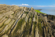 Rocky shoreline along the Gulf of St. Lawrence<br /> <br /> Saint-Roch-des-Aulnaies<br /> Quebec<br /> Canada