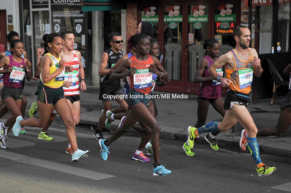 Visiline Jepkesho - 12.04.2015 - Marathon de Paris 2015<br />Photo :  Andre Ferreira  / Icon Sport