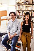 THINKK Studio partners, Decha (L.) and Ploypan (R.)