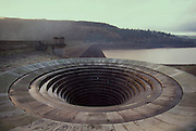 Ladybower Reservoir outflow pipe left high and dry. 27/11/95