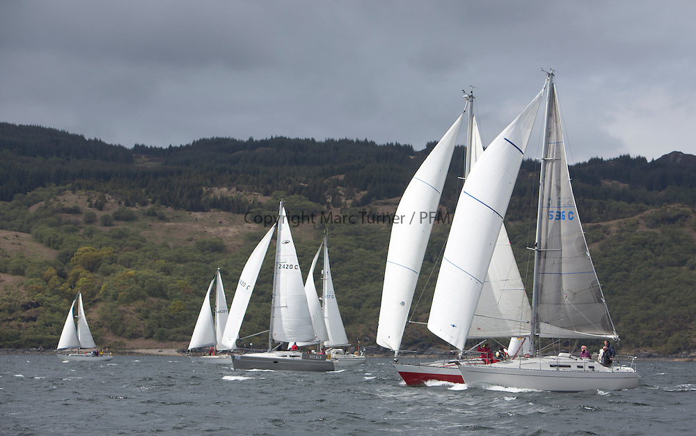 The third days racing at the  Silvers Marine Scottish Series 2015, organised by the  Clyde Cruising Club<br /> Based at Tarbert,  Loch Fyne from 22rd-24th May 2015<br /> <br /> CYCA Restricted Sail Class 9, 5336C, Domino, Alistair Davidson, Kyles of Bute SC, Moody 336, GBR4183, Poppy, John Roberts, Whitehaven AC, Contention 33, 2420C , Vitale , Wilkie/Reid , CCC/RWYC , Elan 344<br /> <br /> <br /> Credit : Marc Turner / CCC<br /> For further information contact<br /> Iain Hurrel<br /> Mobile : 07766 116451<br /> Email : info@marine.blast.com<br /> <br /> For a full list of Silvers Marine Scottish Series sponsors visit http://www.clyde.org/scottish-series/sponsors/