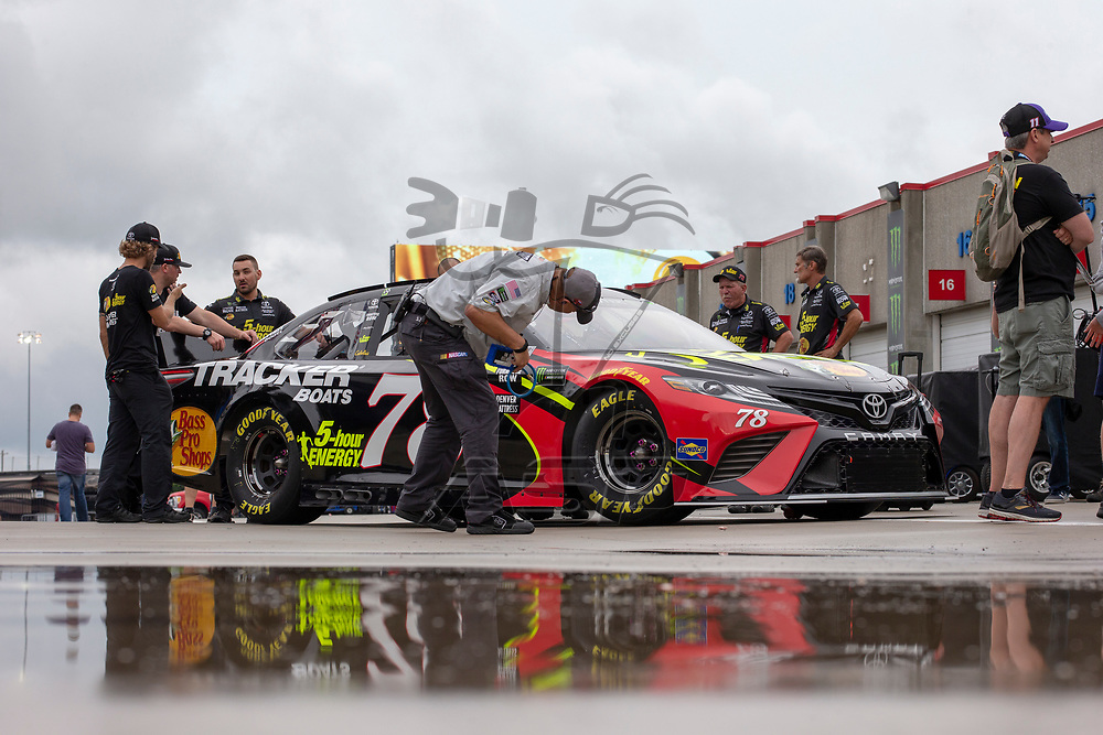 May 18, 2018 - Concord, North Carolina, USA: Martin Truex, Jr (78) gets ready to qualify for the Monster Energy All-Star Race at Charlotte Motor Speedway in Concord, North Carolina.