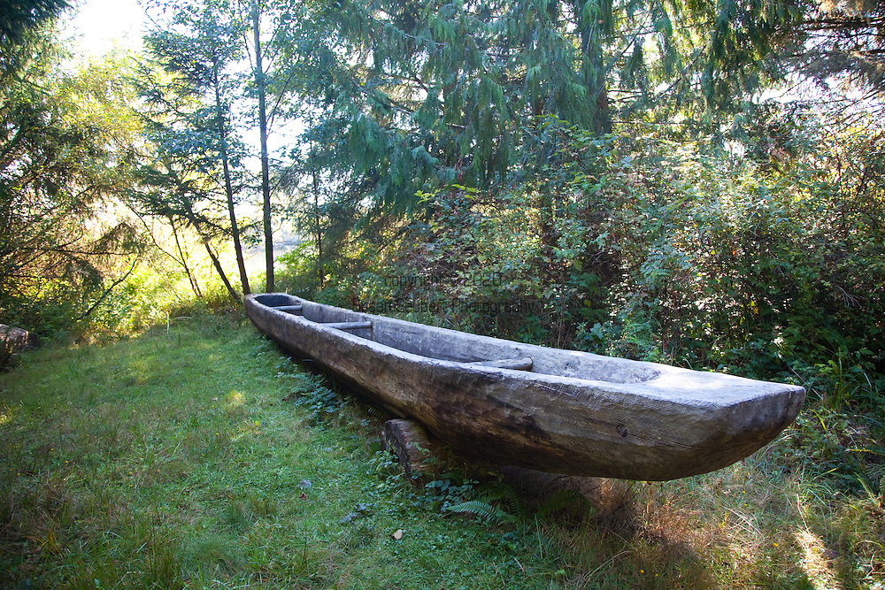 National Geographic Sea Lion's Columbia River Expedition in the Pacific Northwest, Oregon. Ft. Clatsop, the site where the Lewis and Clark Expedition wintered after reaching the Pacific Ocean. Here is an example of a dugout.