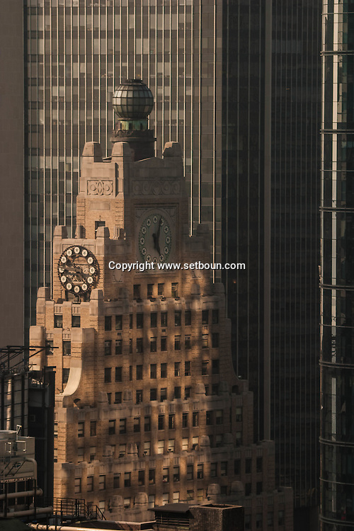 New York. the paramount building in Times square, midtown panorama   New york -     /  le paramount building immeuble de times square , panorama sur  midtown    New york