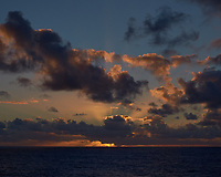 Pacific Ocean Sunset from the MV World Odyssey. Fuji X-T1 camera and 35 mm f/1.4 lens (ISO 250, 35 mm, f/16, 1/250 sec).