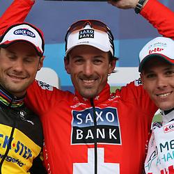 Sportfoto archief 2006-2010<br /> 2010<br /> Fabian Cancellara wins Ronde van Vlaanderen, 2nd place Tom Boonen and 3th Phillipe Gilbert
