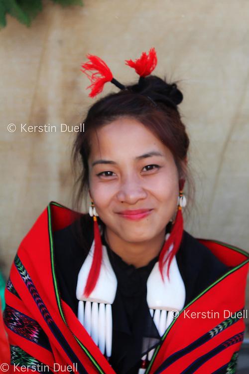 Student at Hornbill festival, Kohima