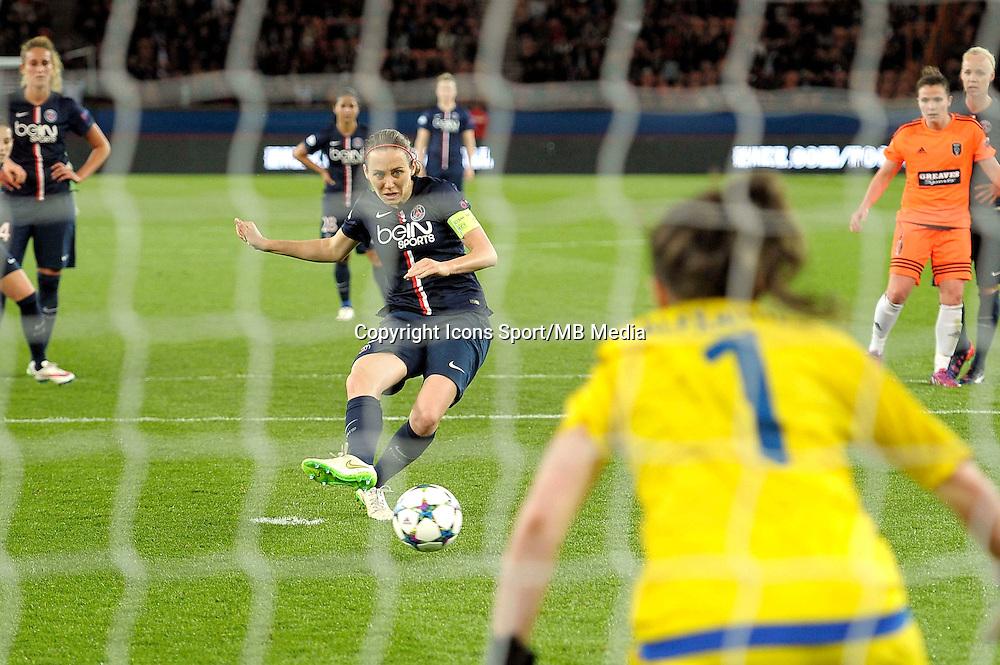 Goal de Sabrina Delannoy  - 28.03.2015 - Paris Saint Germain / Glasgow City FC - 1/2 Finale retour Champions League<br /> Photo : Andre Ferreira / Icon Sport
