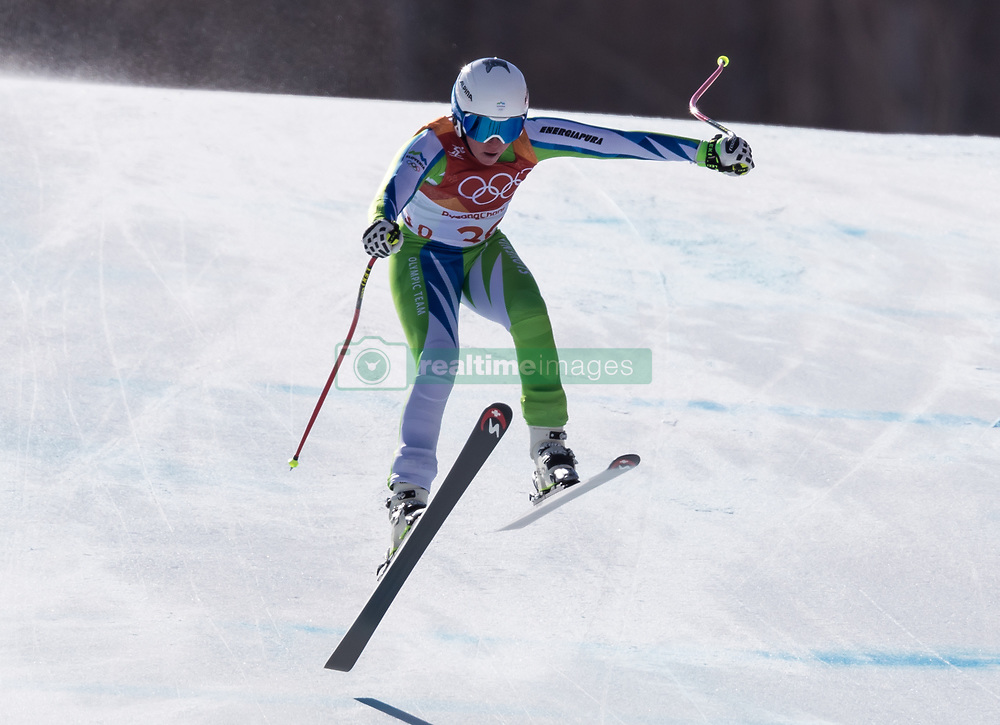 February 17, 2018 - PyeongChang, South Korea - MARUSA FERK of Slovenia during Alpine Skiing: Ladies Super-G at Jeongseon Alpine Centre at the 2018 Pyeongchang Winter Olympic Games. (Credit Image: © Patrice Lapointe via ZUMA Wire)