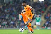 Netherlands forward Quincy Promes (11) during the UEFA European 2020 Qualifier match between Northern Ireland and Netherlands at National Football Stadium, Windsor Park, Northern Ireland on 16 November 2019.