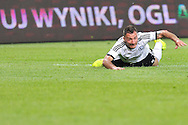 Legia's Marek Saganowski on the pitch during Second qualifying round UEFA Champions League soccer match between Legia Warsaw and St. Patrick's Athletic at Pepsi Arena in Warsaw, Poland.<br /> <br /> Poland, Warsaw, July 16, 2014<br /> <br /> Picture also available in RAW (NEF) or TIFF format on special request.<br /> <br /> For editorial use only. Any commercial or promotional use requires permission.<br /> <br /> Mandatory credit:<br /> Photo by © Adam Nurkiewicz / Mediasport