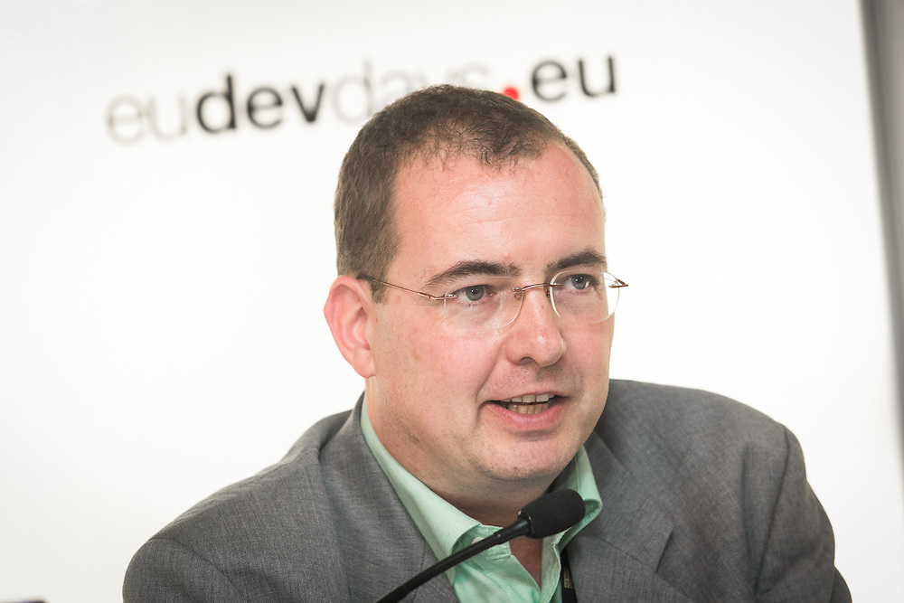 04 June 2015 - Belgium - Brussels - European Development Days - EDD - Climate - A plan for safer water supplies and sanitation in Africa - G&uuml;nter Langergraber , <br /> Professor at the Institute for Sanitary Engineering and Water Pollution Control, Universit&auml;t f&uuml;r Bodenkultur Wien (Austria) and coordinator of the FP7 CLARA project &copy; European Union
