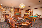Interiors photography at Riverbend Lodge Game Room, Saratoga, WY