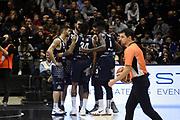 team brescia ,  time out  ,  Caroli Matteo , Zerini Andrea , Moss David , Sacchetti Brian , Abass Abass Awudu<br /> <br /> Segafredo Virtus Bologna - Germani Basket Brescia <br /> Bologna Unipol Arena88-80 <br /> 06/01/2019 Ore 18:15<br /> foto GiulioCiamillo/Ciamillo