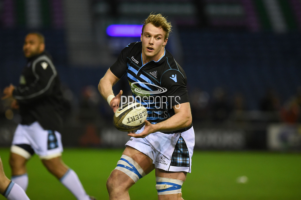 Jonny Gray warms up ahead of the Guinness Pro 14 2017_18 match between Edinburgh Rugby and Glasgow Warriors at Murrayfield, Edinburgh, Scotland on 23 December 2017. Photo by Kevin Murray.