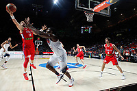 United States´s Harden (C) and Serbia´s Katic and Teodosic during FIBA Basketball World Cup Spain 2014 final match between United States and Serbia at `Palacio de los deportes´ stadium in Madrid, Spain. September 14, 2014. (ALTERPHOTOSVictor Blanco)
