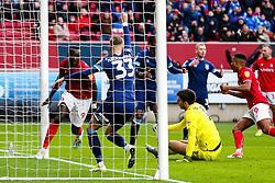 Famara Diedhiou of Bristol City so but it is disallowed - Rogan/JMP - 30/11/2019 - Ashton Gate Stadium - Bristol, England - Bristol City v Huddersfield Town - Sky Bet Championship.