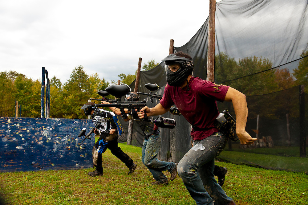 Paintball fun at MSG Paintball Field in New York on Oct 6 and 7, 2012.  (Photo by Aaron Schmidt © 2012)