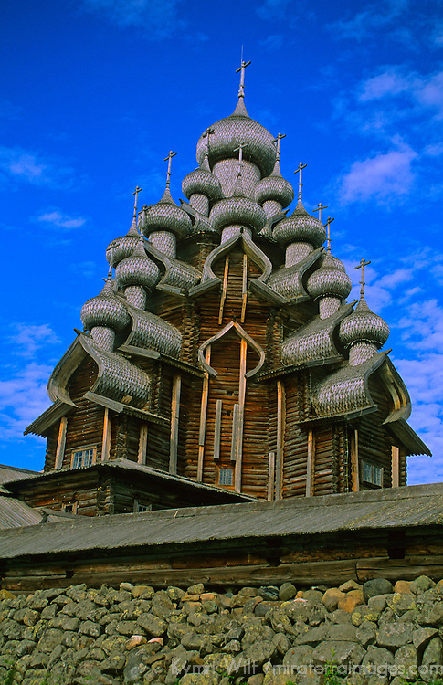 Europe, Russia, Kizhi Island. Church of Transfiguration.