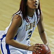 Delaware Sophomore Guard (#3) Jaquetta May attempts a shot from the free throw line in first half, May  with 5 points as Delaware defeated Towson 75-57 Wednesday at The Bob Carpenter Center In Newark Delaware...Special to The News Journal/SAQUAN STIMPSON
