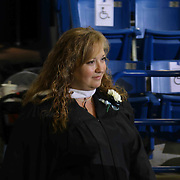 John Dickinson High School staff member Jennifer Short participates in a graduation processional during John Dickinson 55th commencement exercises Saturday, June 06, 2015, at The Bob Carpenter Sports Convocation Center in Newark, Delaware.