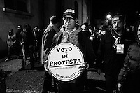 Caserta, Italy - 22 January 2013:  Comic Beppe Grillo, leader of the 5 Stars Movement in Naples, Italy, on January 22nd 2013.