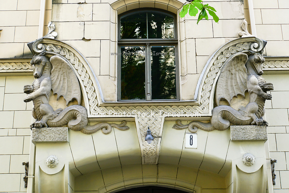 Art Nouveau Building in Riga, Latvia