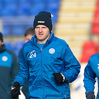 St Johnstone Training…27.01.17<br />Brian Easton training at a very cold McDiarmid Park this monring ahead of tomorrows game against Hamilton Accies<br />Picture by Graeme Hart.<br />Copyright Perthshire Picture Agency<br />Tel: 01738 623350  Mobile: 07990 594431