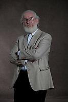 A portrait of David Crystal at the Edinburgh International Book Festival 2012 in Charlotte Square Gardens<br /> <br /> Pic by Pako Mera