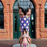 Painted Cowboy Boot in Front of Cheyenne Depot Museum in Cheyenne, Wyoming<br />