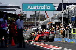 March 15, 2019 - Melbourne, Australia - Motorsports: FIA Formula One World Championship 2019, Grand Prix of Australia, ..#5 Sebastian Vettel (GER, Scuderia Ferrari Mission Winnow) (Credit Image: © Hoch Zwei via ZUMA Wire)