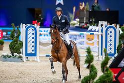KREUZER Andreas (GER), Easy Blue<br /> München - Munich Indoors 2018<br /> Selleria Equipe Speed-Cup<br /> Zeitspringprüfung<br /> 23. November 2018<br /> © www.sportfotos-lafrentz.de/Stefan Lafrentz