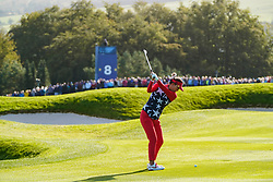 Solheim Cup 2019 at Centenary Course at Gleneagles in Scotland, UK. Annie Park of USA plays approach shot to the 8th hole during the Friday Morning Foursomes.