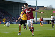 Northampton Town Defender Luke Prosser during the Sky Bet League 2 match between Northampton Town and Newport County at Sixfields Stadium, Northampton, England on 25 March 2016. Photo by Dennis Goodwin.